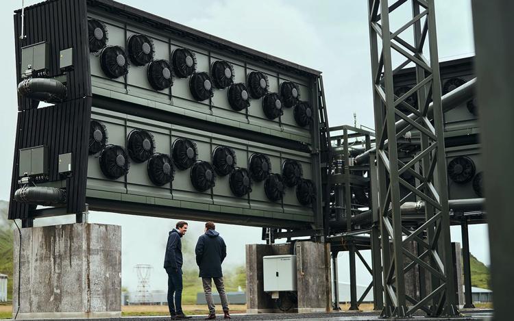 Climeworks presentó la planta de captura de carbono del aire más grande del mundo