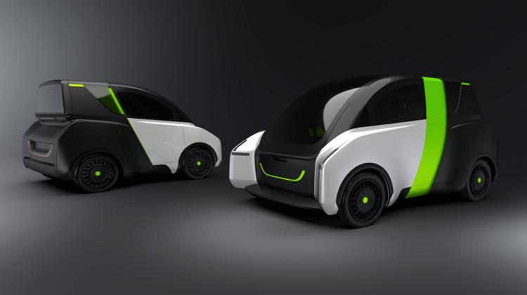 Un coche eléctrico que se extiende