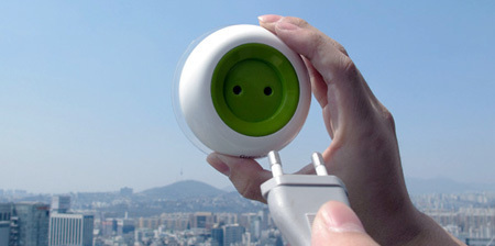 Enchufe Solar Portátil que genera electricidad