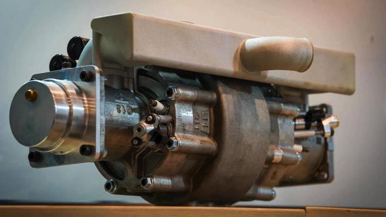 Un motor de explosión sin gasolina para autos eléctricos