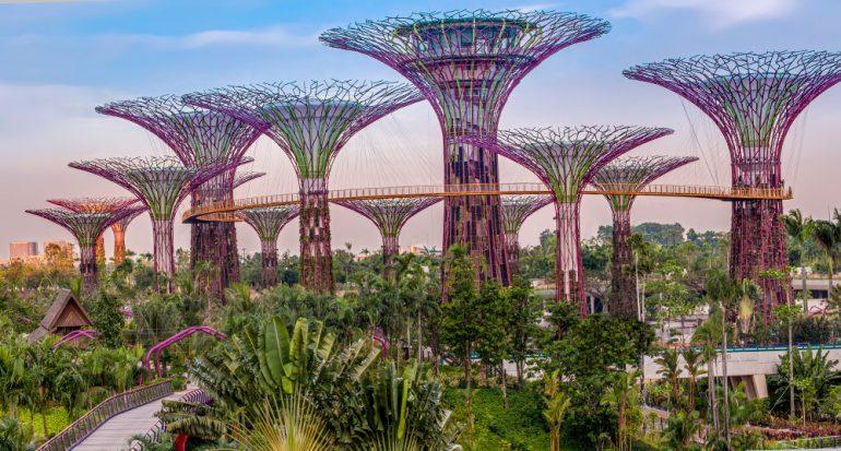 Súper Arboles futuristas en Singapur.
