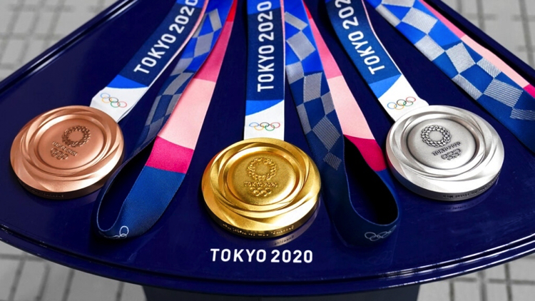 Las medallas olímpicas de Tokyo 2020 son recicladas